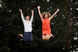 Gemma and Jonna Jumping